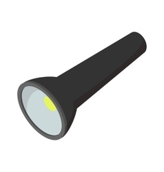 Flashlight cartoon icon vector image vector image