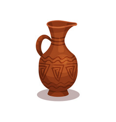 flat icon of old clay jug with traditional vector image