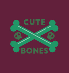 Flat icon on stylish background cross bones vector