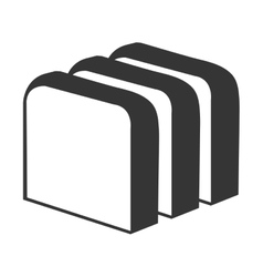 Fresh bread isolated icon in blak and white vector