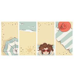 funny summer beach banners vector image