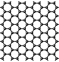 Graphene Seamless Pattern vector image
