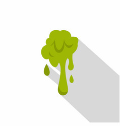green slime spot icon flat style vector image