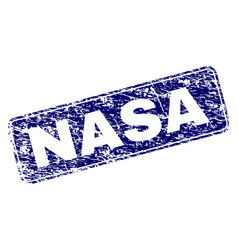 Grunge nasa framed rounded rectangle stamp vector
