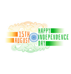Happy independence day india decorative vector