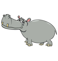 Hippopotamus cartoon character vector