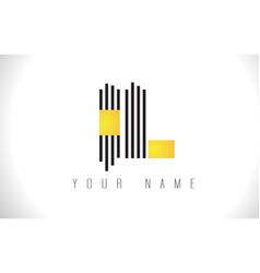 Il black lines letter logo creative line letters vector