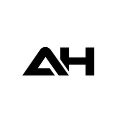 Initial letter ah logo bold template vector