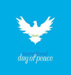 international day peace silhouette a pigeon vector image