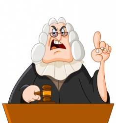 judge vector image