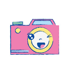 Kawaii cute funny digital camera vector