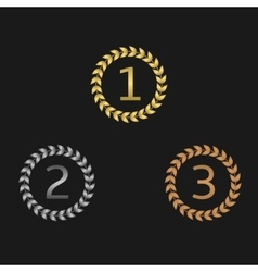 Laurel wreath awards vector