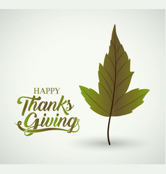 leaf of thanks given design vector image