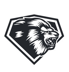Lion head side vector image