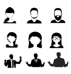 male and female silhouette icon vector image