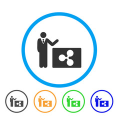 Manager show ripple rounded icon vector