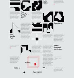 meta modern swiss aesthetics with generative vector image