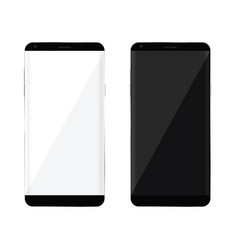 Mobile phone with black and white vector