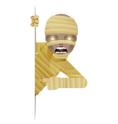 mummy costume role character halloween party look vector image
