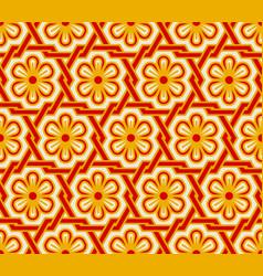 oriental floral vintage seamless pattern vector image
