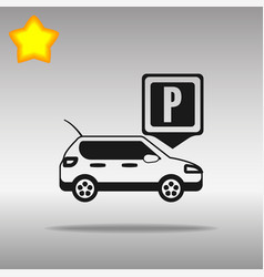 Parking black icon button logo symbol vector