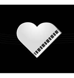 Piano on black background vector