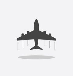 plane icon airplane flat vector image