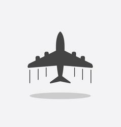 plane icon airplane flat vector image