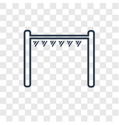 playground concept linear icon isolated on vector image
