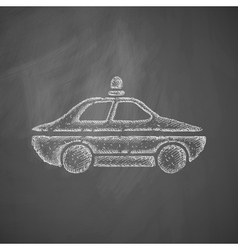 police car icon vector image