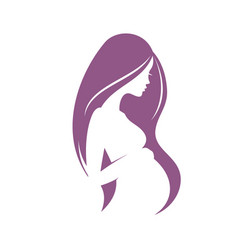 pregnant woman stylized silhouette vector image
