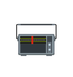 Red line radio icon flat style vector