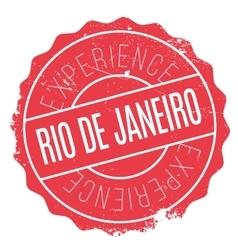 Rio De Janeiro stamp vector