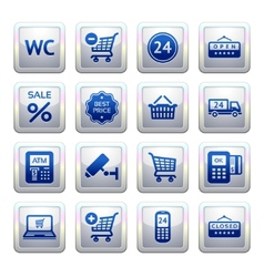 services and shopping symbols vector image