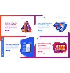 set creative website template concepts vector image