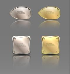 set of metal banners vector image
