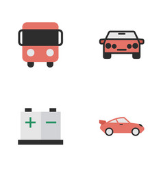 Set of simple shipping icons elements coupe vector