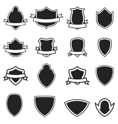 Set of the empty emblems templates isolated vector