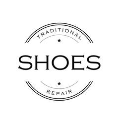 Shoes repair vintage sign logo vector