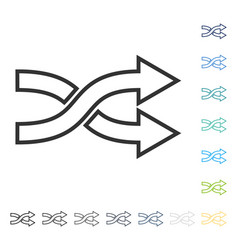 Shuffle arrows right icon vector