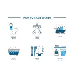 Simbol saving water vector