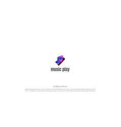 simple minimalist modern colorful 3d note vector image