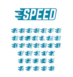 Speed flying alphabet fast symbols vector