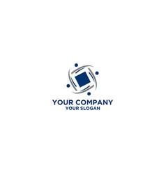 Square community logo design vector