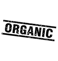 Square grunge black organic stamp vector