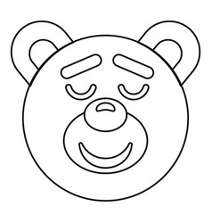 Teddy bear head icon outline style vector