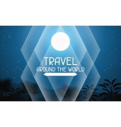 Travel around world tropical background vector