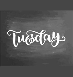 tuesday handwriting font calligraphy vector image
