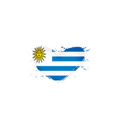 uruguay flag on a white vector image