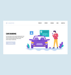 web site design template car sharing get vector image
